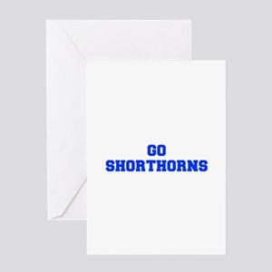 Shorthorns-Fre blue Greeting Cards