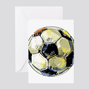 Hand Drawn Football Greeting Cards