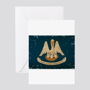 Louisiana State Flag VINTAGE Greeting Cards