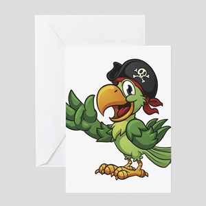 Pirate-Parrot Greeting Cards