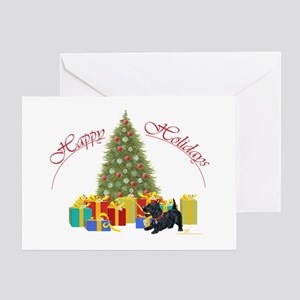 Scottie Dog Christmas Greeting Card