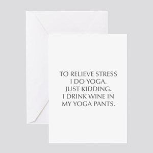 RELIEVE STRESS wine yoga pants-Opt gray Greeting C