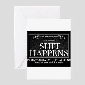 Shit Happens Greeting Card