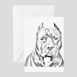 Pit Bull Head Greeting Card