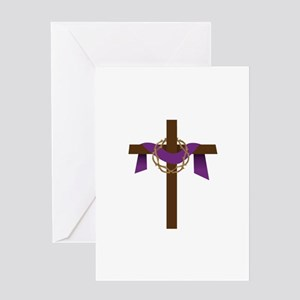 Season Of Lent Cross Greeting Cards