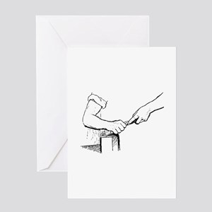 Champering against the grain Greeting Cards