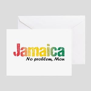 Jamaica No Problem tri Greeting Card