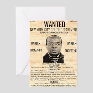 Wanted Bumpy Johnson Greeting Card