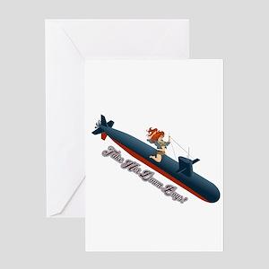 Sub Pin-Up Greeting Cards