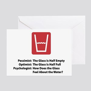 Psychologist Glass Greeting Cards