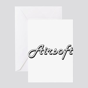 Airsoft Classic Retro Design Greeting Cards