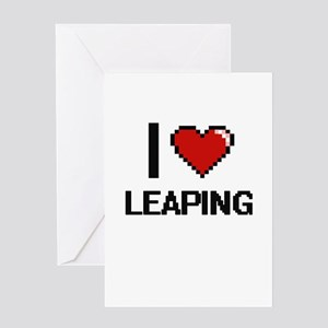 I Love Leaping Greeting Cards