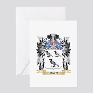 Janus Coat of Arms - Family Crest Greeting Cards