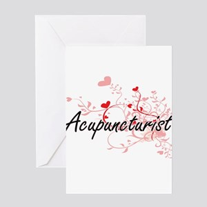 Acupuncturist Artistic Job Design w Greeting Cards