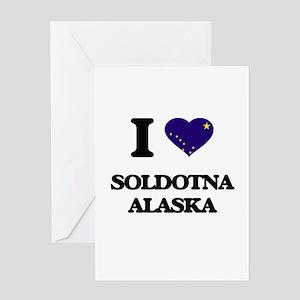 I love Soldotna Alaska Greeting Cards
