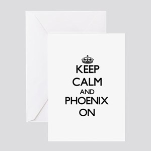 Keep Calm and Phoenix ON Greeting Cards