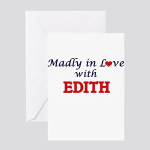 Madly in Love with Edith Greeting Cards
