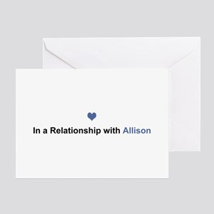 Allison Relationship Greeting Card