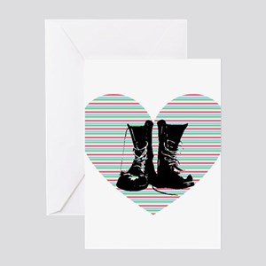 Heart Boots Greeting Card
