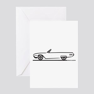 1961 Ford Thunderbird Convertible Greeting Card