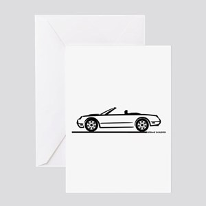02 05 Ford Thunderbird Convertible Greeting Card