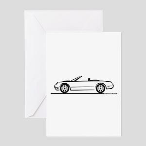 02 05 Ford Thunderbird Convertible Greeting Card