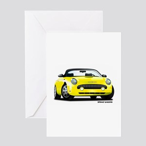 2002 05 Ford Thunderbird yellow Greeting Card