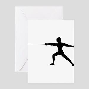 Guy Fencer Greeting Cards