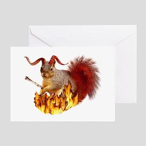 Krampus Squirrel Greeting Card