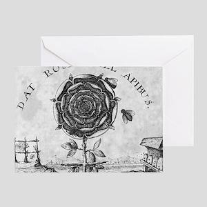 Rosicrucian mystical symbol Greeting Card