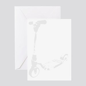 Scooter white Greeting Card