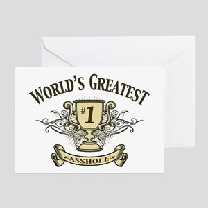 ahole-trophy-LTT Greeting Card