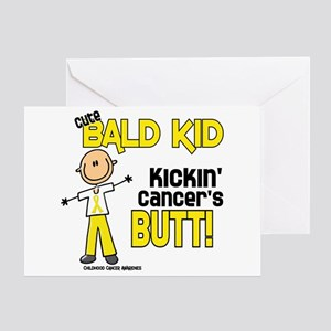 Bald 4 Childhood Cancer (SFT) Greeting Card