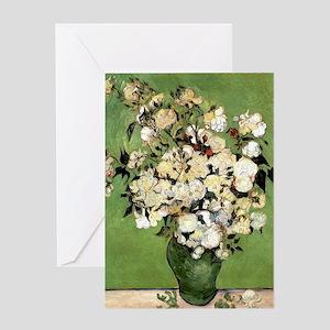 Van Gogh Roses Greeting Card
