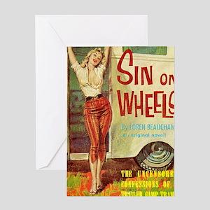 Sin On Wheels Greeting Card