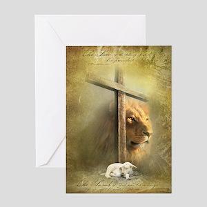 Lion of Judah, Lamb of God Greeting Card