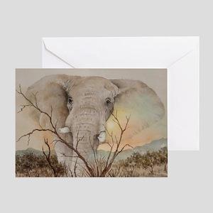 Ele Africa Greeting Card