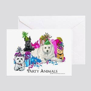 Birthday Party Dogs Greeting Card