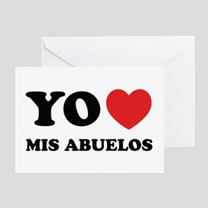 Yo Amo Mis Abuelos Greeting Card