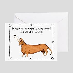 Old dog Love Greeting Card
