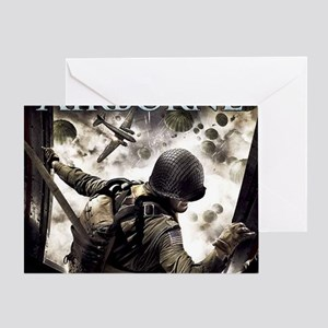 2-Airborne.moh.mousepad Greeting Card