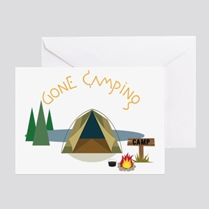 Gone Camping Greeting Card