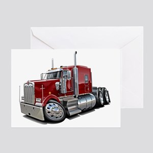 Kenworth w900 Maroon Truck Greeting Card