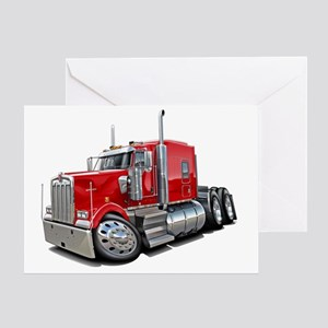Kenworth w900 Red Truck Greeting Card