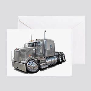Kenworth w900 Silver Truck Greeting Card