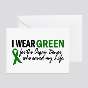 I Wear Green 2 (Saved My Life) Greeting Card