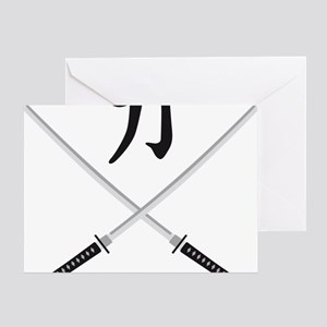 samurai sword Greeting Card