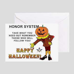 Halloween Masonic Honor System Greeting Card