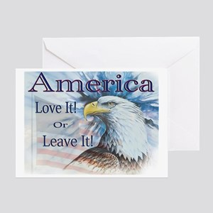 America Love It or Leave It Greeting Card