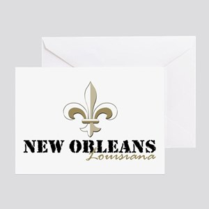 New Orleans Louisiana gold Greeting Card